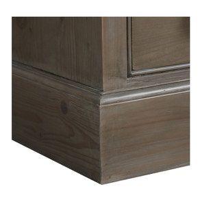 Armoire penderie 3 portes 5 tiroirs en épicéa brun fumé grisé - Natural - Visuel n°11