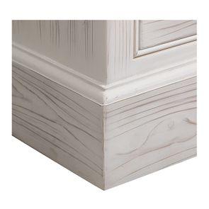 Armoire 3 portes 5 tiroirs en épicéa massif nuage de blanc - Natural - Visuel n°8