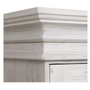 Armoire 3 portes 5 tiroirs en épicéa massif nuage de blanc - Natural - Visuel n°9
