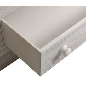 Armoire 3 portes 5 tiroirs en épicéa massif nuage de blanc - Natural - Visuel n°10