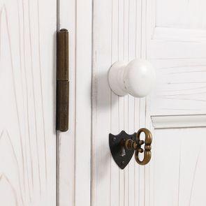 Armoire 3 portes 5 tiroirs en épicéa massif nuage de blanc - Natural - Visuel n°12