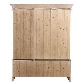 Armoire 3 portes 5 tiroirs en épicéa massif nuage de blanc - Natural - Visuel n°7