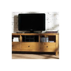 Meuble TV avec rangements en épicéa massif - First