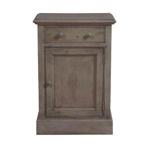 Petit meuble de rangement en épicéa brun fumé grisé - Natural