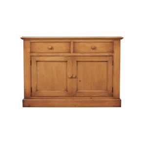 Buffet bas en épicéa 2 tiroirs 2 portes - Natural - Visuel n°1