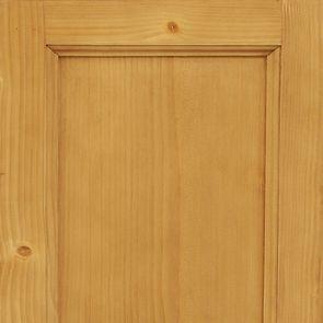 Buffet bas 3 portes vitrées croisillons en épicéa naturel ciré - Natural - Visuel n°2