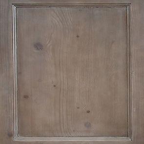 Buffet bas en épicéa brun fumé grisé 3 portes vitrées croisillons - Natural - Visuel n°2
