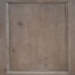 Buffet bas 3 portes vitrées croisillons en épicéa brun fumé grisé - Natural - Visuel n°2