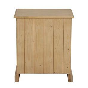 Table de chevet en épicéa naturel cendré - Natural - Visuel n°4