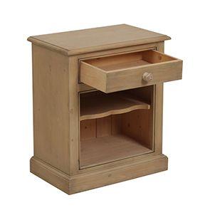 Table de chevet en épicéa naturel cendré - Natural - Visuel n°2