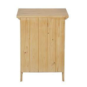 Table de chevet 1 tiroir en épicéa massif - First - Visuel n°4
