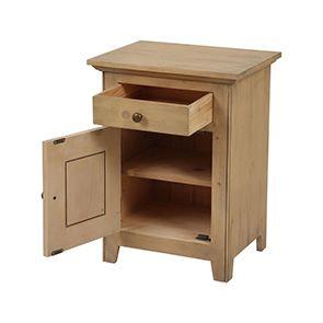 Table de chevet 1 tiroir en épicéa massif - First - Visuel n°2