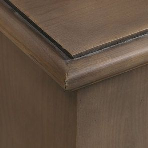 Buffet vaisselier 2 portes vitrées en épicéa brun fumé grisé - Natural - Visuel n°10