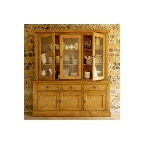 Buffet vaisselier 3 portes vitrées en épicéa naturel ciré - Natural - Visuel n°4
