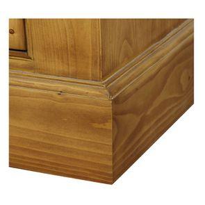Buffet vaisselier 3 portes vitrées en épicéa naturel ciré - Natural - Visuel n°13