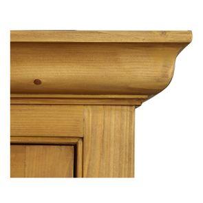 Buffet vaisselier 3 portes vitrées en épicéa naturel ciré - Natural - Visuel n°14