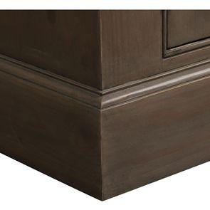 Buffet vaisselier 3 portes vitrées en épicéa naturel fumé - Natural