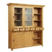 Buffet vaisselier 3 portes vitrées en épicéa naturel ciré - First - Visuel n°5