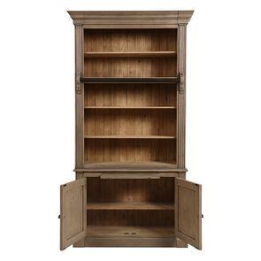 Bibliothèque 2 portes en épicéa brun fumé grisé - Natural - Visuel n°2