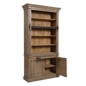 Bibliothèque 2 portes en épicéa brun fumé grisé - Natural - Visuel n°3