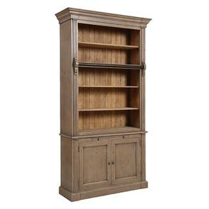 Bibliothèque 2 portes en épicéa brun fumé grisé - Natural - Visuel n°4