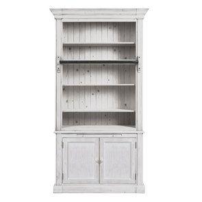 Bibliothèque 2 portes en épicéa massif nuage de blanc - Natural - Visuel n°1