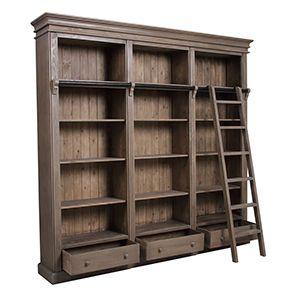 Bibliothèque avec échelle en épicéa - First - Visuel n°2