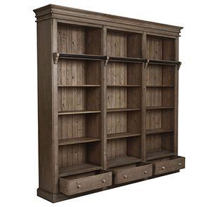 Bibliothèque avec échelle en épicéa - First - Visuel n°3