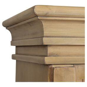 Bibliothèque 3 modules avec échelle en épicéa massif naturel cendré - Natural