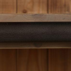 Bibliothèque 3 modules avec échelle en épicéa massif brun fumé grisé - Natural - Visuel n°11