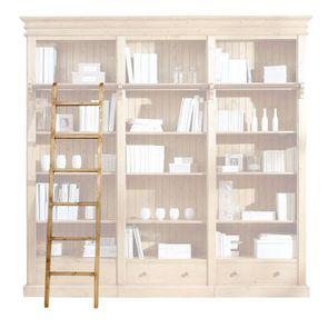 Échelle de bibliothèque en épicéa massif - Natural