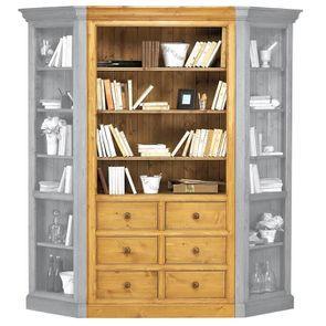 Bibliothèque modulable 6 tiroirs en épicéa - Natural - Visuel n°3