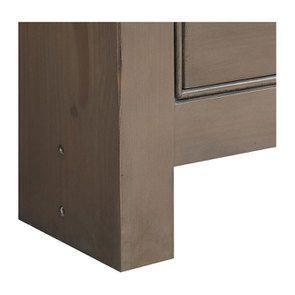 Bibliothèque ouverte 6 tiroirs en épicéa brun fumé grisé - Natural - Visuel n°8