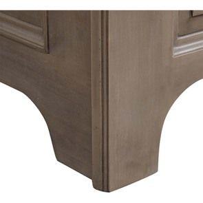 Lit 140x190 avec tiroirs en épicéa massif brun fumé grisé - Natural