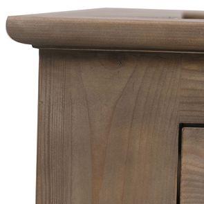 Lit 140x200 avec tiroirs en épicéa brun fumé grisé - First - Visuel n°10