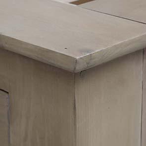 Lit 180x200 avec tiroirs en épicéa naturel cendré - First - Visuel n°9