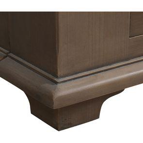 Lit 180x200 avec tiroirs en épicéa brun fumé grisé - First