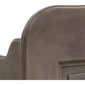 Lit 160x200 avec tiroirs en épicéa massif brun fumé grisé - Natural - Visuel n°8
