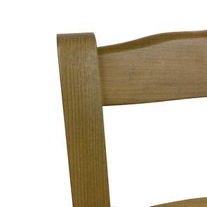 Chaise paillée en hêtre massif naturel cendré - Natural