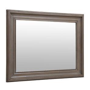 Miroir rectangulaire en épicéa brun fumé grisé - Natural - Visuel n°2