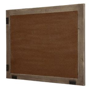 Miroir rectangulaire en épicéa brun fumé grisé - Natural - Visuel n°3