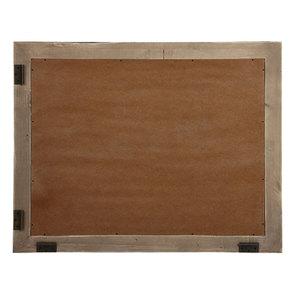 Miroir rectangulaire en épicéa brun fumé grisé - Natural - Visuel n°4