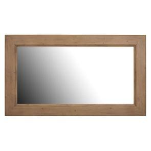 Miroir rectangulaire en épicéa naturel cendré - First