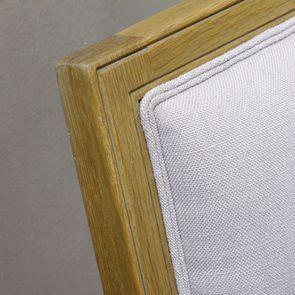 Chaise en chêne massif et tissu - Honorine - Visuel n°5