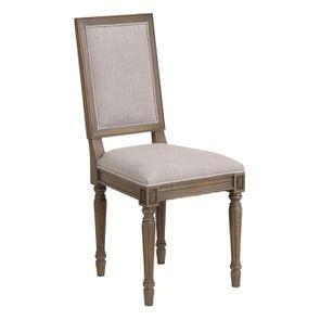 Chaise en chêne massif naturel fumé et tissu - Honorine - Visuel n°2