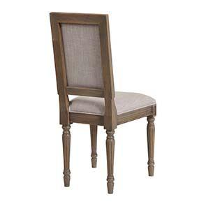 Chaise en chêne massif naturel fumé et tissu - Honorine - Visuel n°8