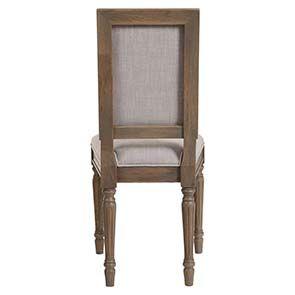 Chaise en chêne massif naturel fumé et tissu - Honorine - Visuel n°9