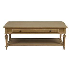 Table basse rectangulaire en chêne massif - Domaine