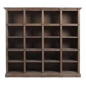 Bibliothèque en chêne naturel fumé 4 modules - Domaine