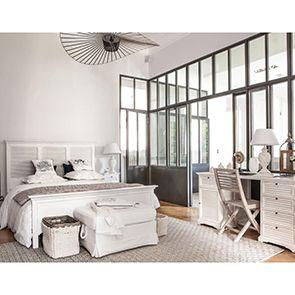 Tête de lit 160 blanche en épicéa massif - Vénitiennes - Visuel n°3
